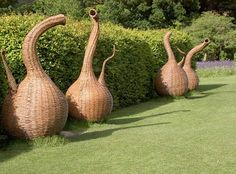 Willow sculptures by Tom Hare at Wisley Gardens, England