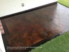 concrete patio pavers - concrete stain ideas for an update! |