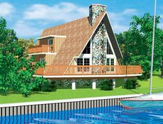 A frame houses with floor plans | Three Bedroom A-Frame