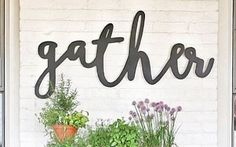 Gather Word Wood Cut Wall Art Sign Home Business Kitchen Dining Room Decor Wood Home Decor, Home Decor Wall Art, Room Decor, Living Room Kitchen, Kitchen Decor, Dining Room, Kitchen Nook, Dining Area, Kitchen Ideas
