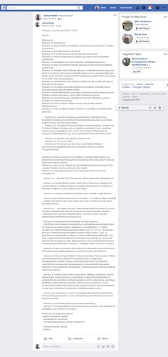 Screenshot: Jukka Niemi - Jukka Niemi shared a post. Facebook, Love, Amor