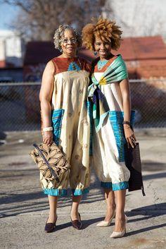 Like grandmother, like granddaughter. #AdvancedStyle