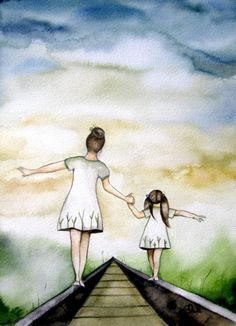 Titled - Our Path ღ makes me think of my Heather and I.... We were always so close and I thank God for sharing her with me, an amazing beautiful child. I was honored to be her mother ღ I love you and I miss you Heather ~ hope to see you soon .... MღM