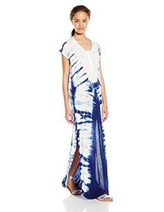 Volcom Juniors Super Sonic Tie-Dye Maxi Dress