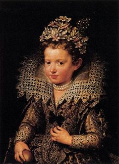 Photo of Eleonora Gonzaga by Frans Pourbus the Younger (Galeria Palatina) circa between 1590 and 1622 - by the style of clothing, most probably circa 1615...