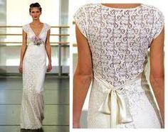 crocheted back of dress