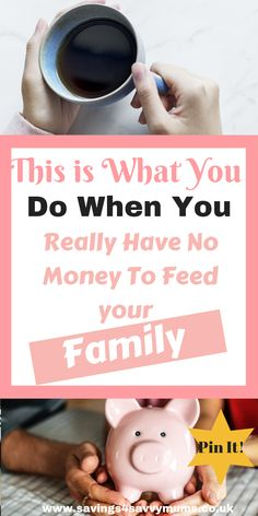 No Money for Food? This is What You Do When You Really Have No Money To Feed your Family – Savings 4 Savvy Mums – Finance tips for small business Need Money, How To Make Money, Financial Tips, Financial Planning, Money Saving Tips, Managing Money, Frugal Tips, Budgeting Tips, Money Matters