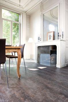 dark grey cork floor! from Real Cork; http://www.realcorkfloors.com/