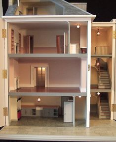 Repinned from Wanda Waterfield • Dolls' house by Chriscobb--simple but oh so elegant