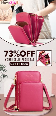 7db75a75c795 【US$ 29.99】Women Solid PU leather Clutch Bag Card Bag Phone Bag Crossbody