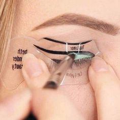 "10Pcs Cat Eye & Smokey Eye Eyeshadow Eyeliner Models Template Top Bottom Eyeliner Card Beauty Eyebrows Stencils Makeup Tool "" FREE SHIPPING """