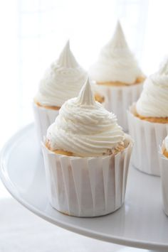 Peach cupcakes with vanilla bourbon buttercream - the write-up of this recipe was not great, and the liquid amounts in the frosting were just wrong.