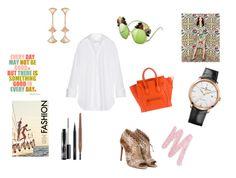 """Shirt/dress"" by maria-chamourlidou ❤ liked on Polyvore featuring Marques'Almeida, Alaïa, CÉLINE, Bulgari, Girard-Perregaux, MAC Cosmetics and Urban Decay"