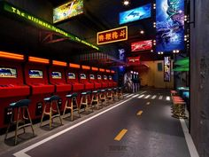 Video Game Shop, Gaming Lounge, Basement Games, Cafe Barista, Service Club, Ultimate Man Cave, Interior Concept, Party Stores, Home Entertainment