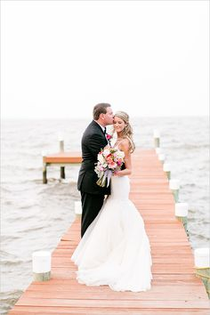 Preppy Black, Gold and White Wedding