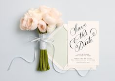 hand-drawn #calligraphy cards & save the dates designed by @ALaiseLtd now on papier.com