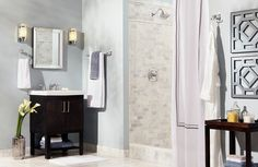 We love bathrooms, and with so many beautiful styles and ideas out there, it's hard to pick just one, so we're not! Add exquisiteness to any bathroom with Moen. Faucets, showers, and more come together to add comfort, luxury and a dash of personal style to your bath.