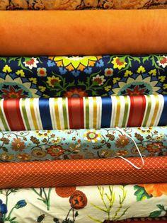 Bright pattern mix.