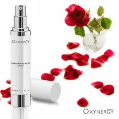 Hyaluronic Acid Cream Oxynergy  Лёгкий и нежный крем содержит три вида гиалуроновой кислоты, заключенной в липосомы, что позволяет ему работать во всех слоях эпидермиса и обеспечивать необходимой влагой нашу кожу. А также защищать от обезвоживания и вредного воздействия УФ-лучей.