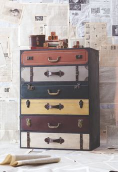 Trenton Suitcase Chest at Cost Plus World Market >>#WorldMarket Urban Dwellings Collection