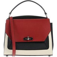 Bally Handbag (19,575 EGP) ❤ liked on Polyvore featuring bags, handbags, maroon, red purse, red handbags, leather doctor bag, studded purse and mini handbags
