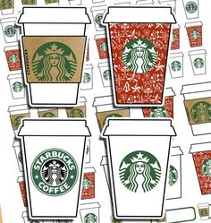 Dec. 8: Free planner printable Starbucks cups stickers - PDF and cut files.