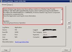 Repair and Re-Register VSS Writers in Windows Server 2008 R2