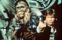 """Chewbacca, left, and Han Solo (Harrison Ford) in a scene from George Lucas' """"Star Wars"""" (1977). """"Star Wars,"""" which ran Friday, May 27, 1977. The movie premiered in theaters May 25, 1977."""