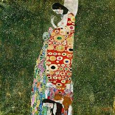 Gustav Klimt - Die Hoffnung II (Hope II) 1907-08 (oil and gold paint on canvas)