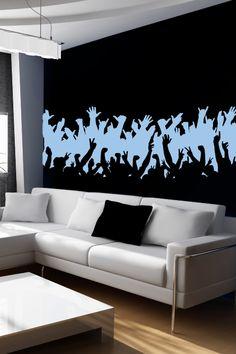 Wall Decals Concert Crowd- WALLTAT.com Art Without Boundaries
