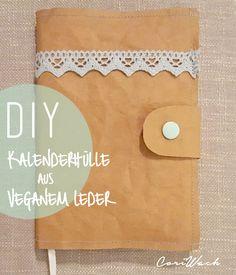 Fröken Su - Mein Kreativblog: Gastbeitrag - DIY - Kalenderhülle aus Veganem Leder