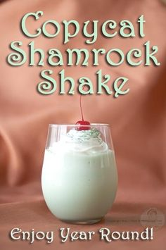 This Copycat Shamrock Shake recipe from How I Pinch a Penny is perfect for St. Patrick's Day or any day of the year.