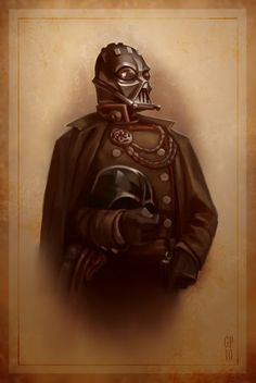 A Victorian portrait of Darth Vader by Greg Peltz