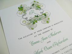 Wine Wedding Invitations by Whimsicalprints on Etsy, $2.50