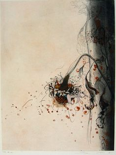 Japanese Art by the artist Shinji Ando | Scriptum Inc colour etching