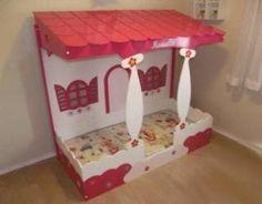 Cama Infantil Para Menina De Casinha - 170x80 - R$ 3.254,00