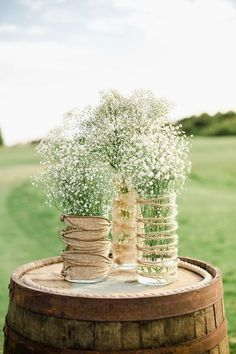 9 Stunning Fall Wedding Centerpiece Ideas for breath wedding centerpieces with burlap and twine, outdoor rustic weddings in country, backyard wedding ideas, Chic Wedding, Trendy Wedding, Unique Weddings, Fall Wedding, Wedding Ideas, Wedding Rustic, Dress Wedding, Wedding Ceremony, Romantic Weddings