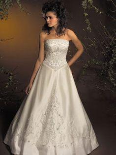 Wedding, Dress, A-line, Beading, Allure bridals