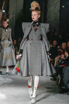 Thom Browne Fall 2013 RTW --- master of his craft, Thom Browne looks like he showed couture pieces in a RTW show.