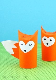 Toilet Paper Roll Crafts - Get creative! These toilet paper roll crafts are a great way to reuse these often forgotten paper products. You can use toilet paper rolls for anything! creative DIY toilet paper roll crafts are fun and easy to make. Kids Crafts, Fox Crafts, Crafts For Kids To Make, Animal Crafts, Toddler Crafts, Preschool Crafts, Easy Crafts, Easy Diy, Paper Towel Roll Crafts