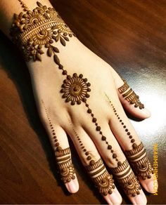 Mehndi henna designs are always searchable by Pakistani women and girls. Women girls and also kids apply henna on their hands feet and also on neck to look more gorgeous and traditional. Henna Hand Designs, Mehndi Designs Finger, Henna Tattoo Designs Simple, Latest Henna Designs, Mehndi Designs For Beginners, Mehndi Simple, Mehndi Designs For Fingers, Right Hand Mehndi Design, Simple Hand Henna