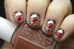Advent Tutorial: Stocking Nail Art