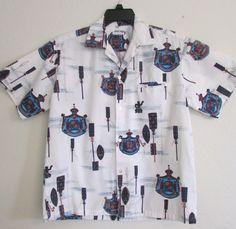Vintage Liberty House Hawai Resort Hawaiian Shirt 1960's Loop Collar Hidden Breast Pocket by timegonebyvintage. Explore more products on http://timegonebyvintage.etsy.com