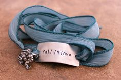 Silk Wrap Bracelet  Fall in Love   Custom Hand by BobbieJoDesigns, $29.99