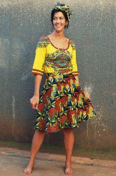 Amazing Fabric Mix. Tribal print Dashiki