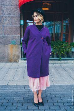 Демисезонное пальто из 100% шерсти