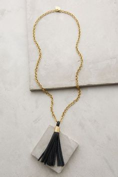 Gorgeous leather tassel necklace at Anthropologie