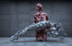 Novas esculturas digitais de Adam Martinakis.   Апокалипсис – а пока… нам…