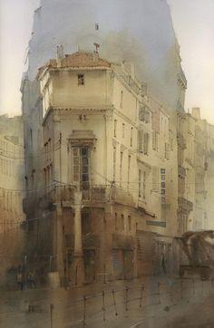 """Sergey Kurbatov (b. 1970) """"Morning visit to Monsieur Pierre"""" 36x55 cm"""