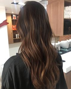 Long Dark Brown Shag with Textured Bangs - 20 Stunning Long Dark Brown Hair Cuts and Styles - The Trending Hairstyle Brown Hair Cuts, Brown Hair Looks, Brown Hair Shades, Brown Hair With Blonde Highlights, Hair Highlights, Hombre Hair, Balayage Hair Ash, Balayage Brunette, Jessie James